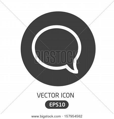 Vector Premium Icon Message Bubble In Flat Style