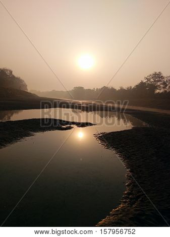 Natural morning image for river on Upcoming sury