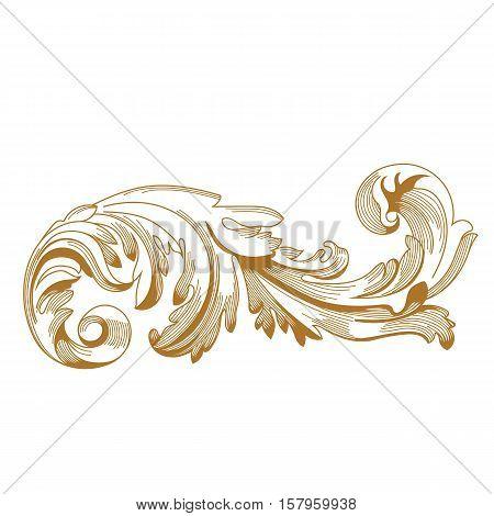 Golden vintage ornament, baroque ornament, scroll ornament, engraving ornament, border ornament, floral ornament, retro pattern, antique pattern, style acanthus pattern, foliage pattern, swirl pattern decorative pattern, filigree pattern. vector poster