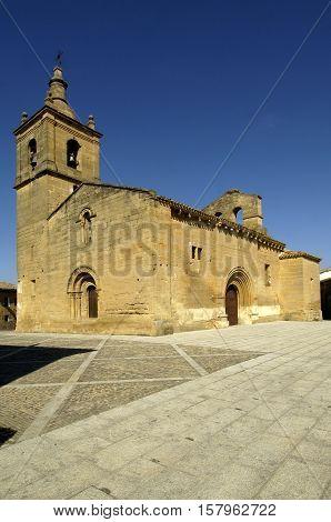 El Salvador Church XII century Tirgo La Rioja Spain
