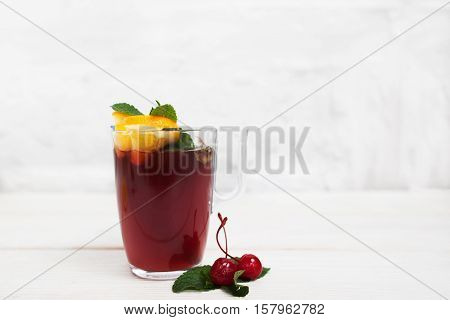 Drink Punch Sangria Glintwein Grog Wine Party Celebration Fun Concept