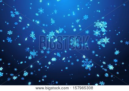 Christmas Background Illustation. Winter Holiday Theme. High Detailed Snowflake.