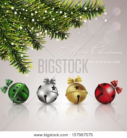 Jingle Bells.Vector background