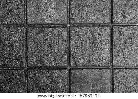 Dark Grey Cobble Stone Pavement, Background And Texture