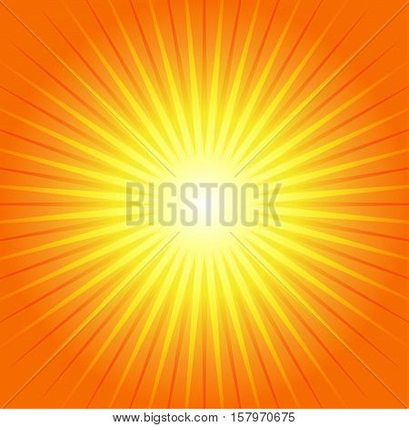 Sunburst Yellow Orange Ray Background