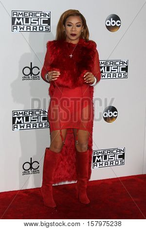 LOS ANGELES - NOV 20:  Keyshia Cole at the 2016 American Music Awards at Microsoft Theater on November 20, 2016 in Los Angeles, CA