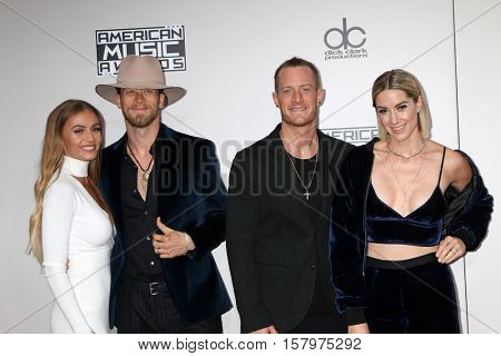 LOS ANGELES - NOV 20:  Hayley Stommel Hubbard, Tyler Hubbard, Brian Kelley, Brittney Marie Cole Kelley at the 2016 American Music Awards at Microsoft Theater on November 20, 2016 in Los Angeles, CA