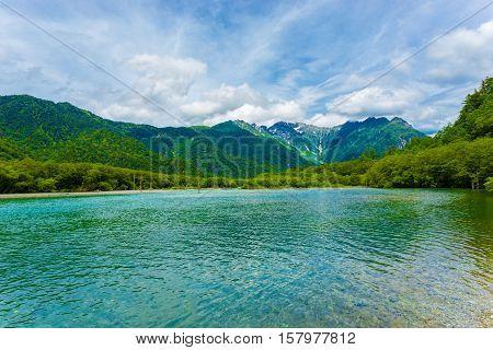 Kamikochi Taisho Pond Mount Hotaka Dake H