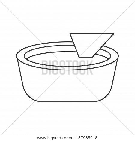 Nacho food icon. Mexican culture tourism landmark and latin theme. Isolated design. Vector illustration