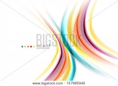 Blurred swirl background vector template