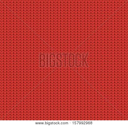 Seamless knitted red pattern woolen fabric woolen cloth