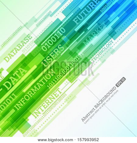 Abstract retro technology lines. Stream of information. Data and information transfer. Stock vector. eps 10