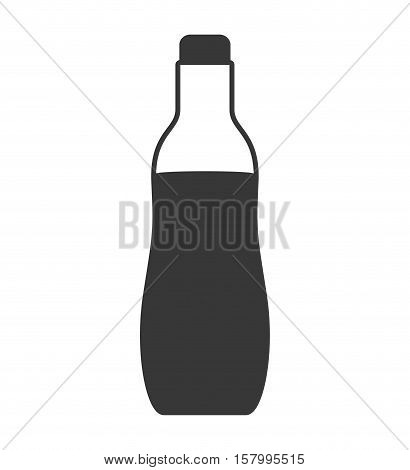 silhouette bottle soda graphic icon vector illustration eps 10