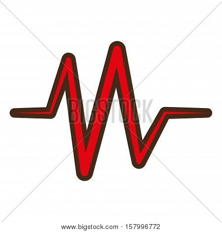 red heart pulse rhythm icon vector illustration eps 10