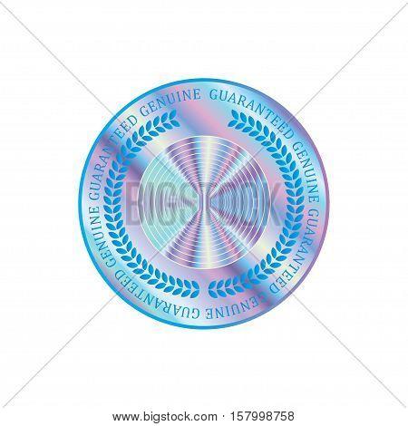 Holographic design illustration round shape sticker quality emblem