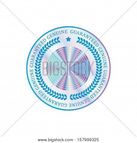 Holographic design illustration circle shape sticker quality emblem