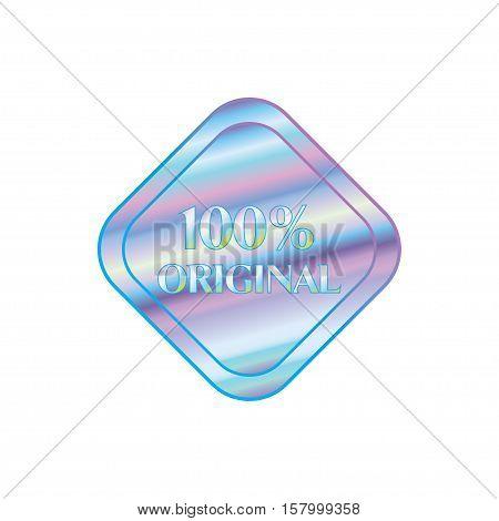 Holographic design illustration rhombus shape sticker original quality emblem