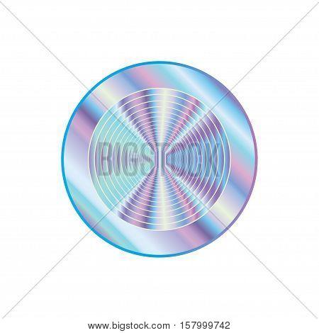 Holographic design circle illustration round shape sticker emblem