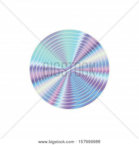 Holographic design shine illustration round shape sticker emblem