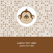Greeting Card and birthday parties. Monkey card poster