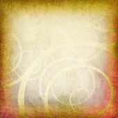 old paper background grunge with swirls added poster