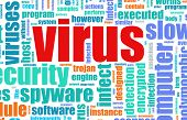 Virus Computer Security Focus as a Background poster