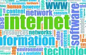 Internet Technology Tag Cloud Creative Background poster