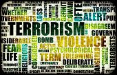 Terrorism Alert or High Terrorist Threat Level poster