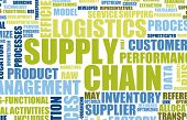 Supply Chain Management Background as Design Art poster