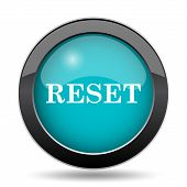 Reset icon. Reset website button on white background. poster