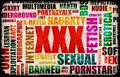 XXX Sex Industry Concept Grunge Background poster