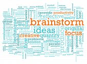 A Brainstorm Session Concept as a Abstract poster
