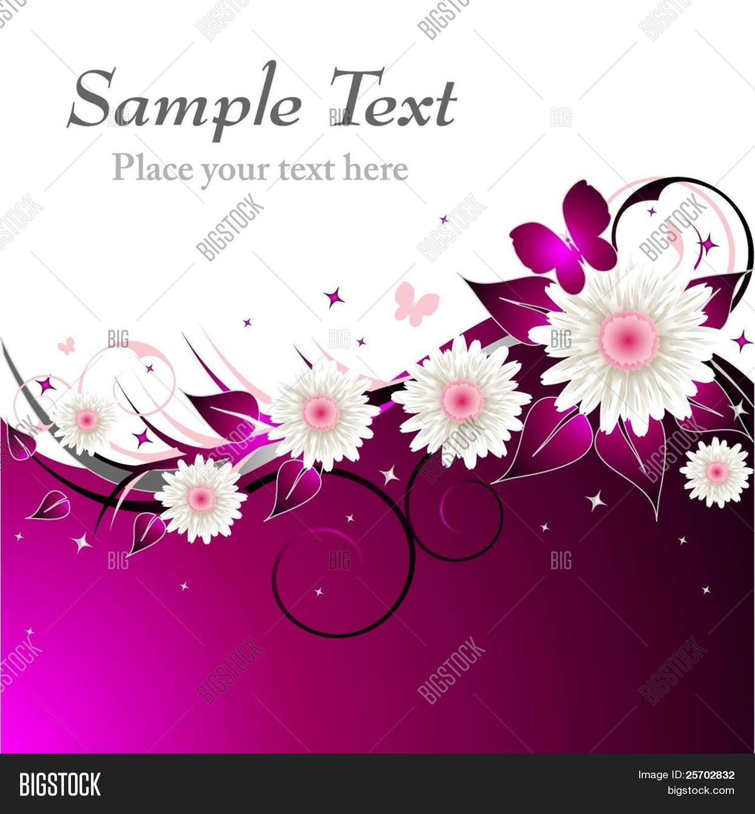 Pink Floral Abstract Vector Photo Free Trial Bigstock
