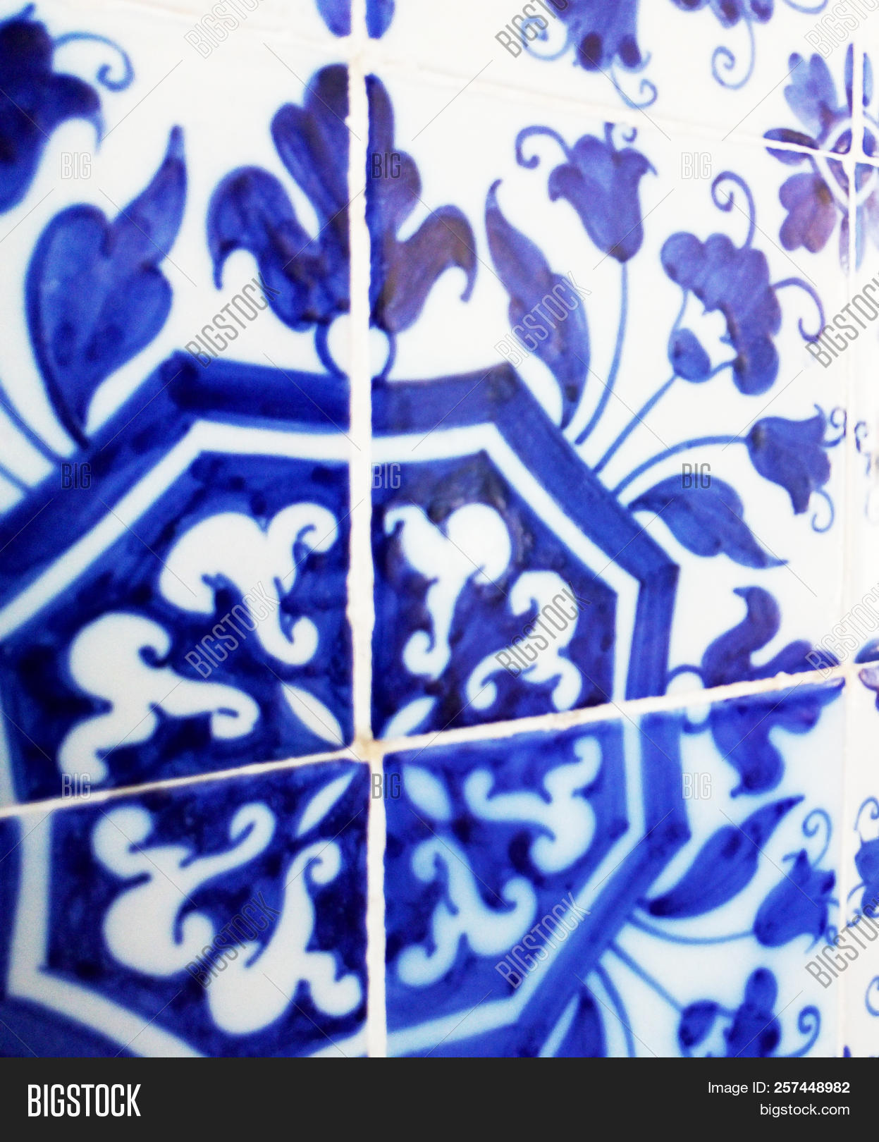 Mosaic Tiles Portugal Image Photo