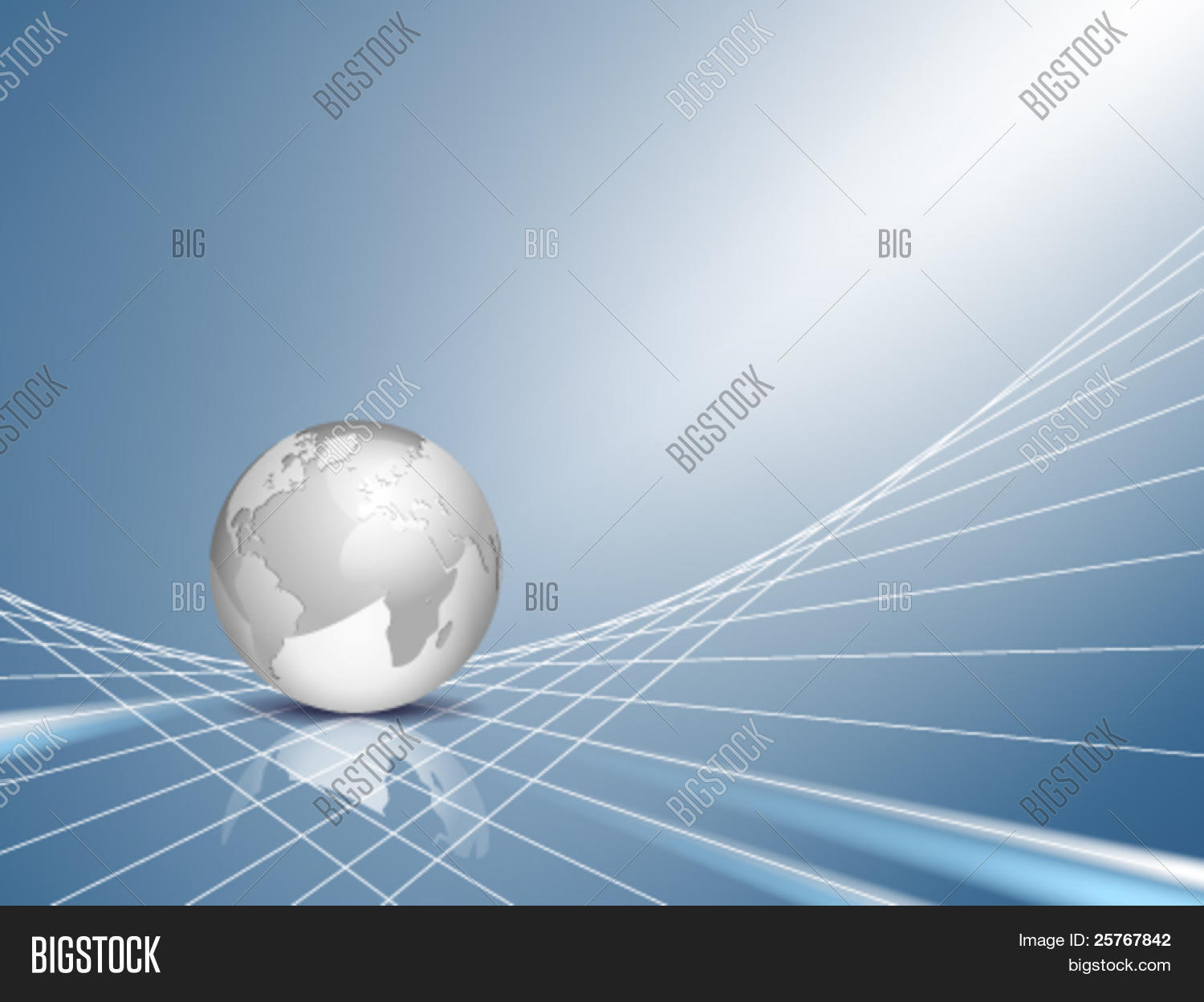 Vector business vector photo free trial bigstock vector business background design with light silver grey 3d globe world map with blue gumiabroncs Choice Image