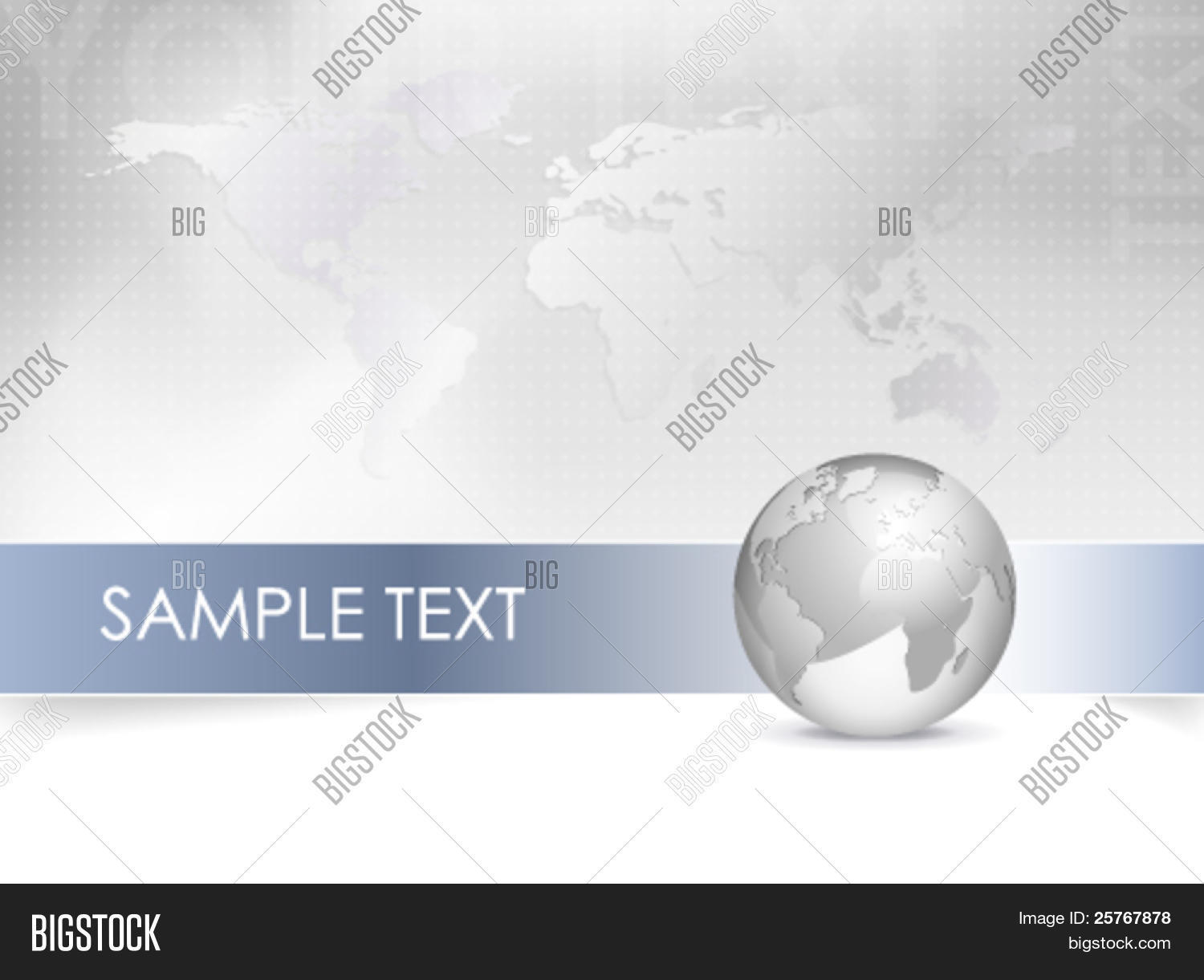 Business map world vector photo free trial bigstock business map world map globe abstract grey background design with blue banner gumiabroncs Gallery