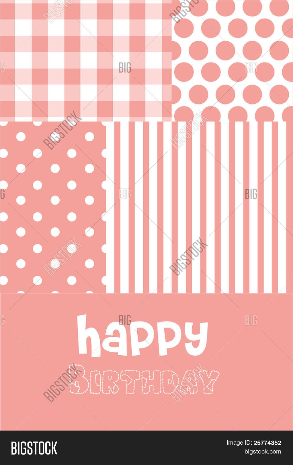 Baby girl birth vector photo free trial bigstock baby girl birth announcement or birthday greeting card m4hsunfo
