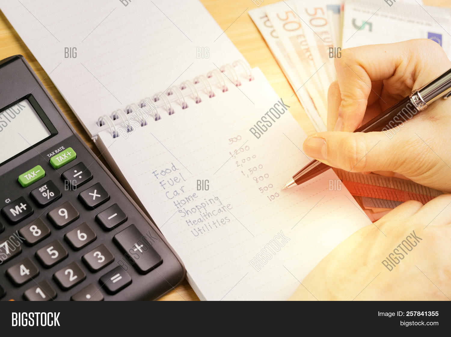 expense calculation image photo free trial bigstock
