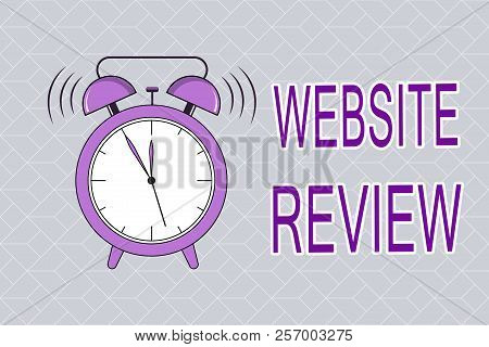 Text sign showing Website Review. Conceptual photo Reviews that can be posted about businesses and services poster