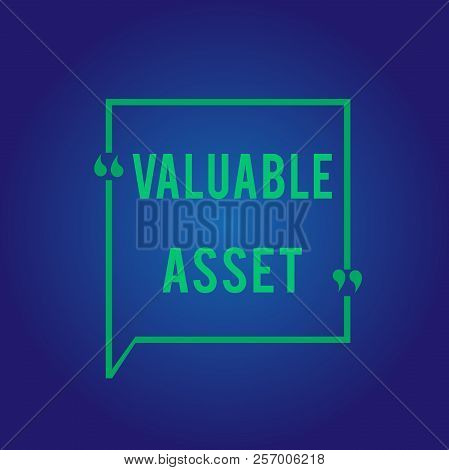 Word Writing Text Valuable Asset. Business Concept For Your Most Valuable Asset Is Your Ability Or C