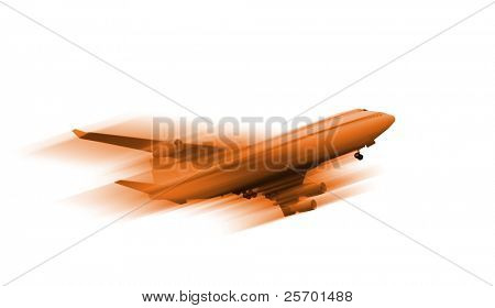airplane, isolated passenger liner
