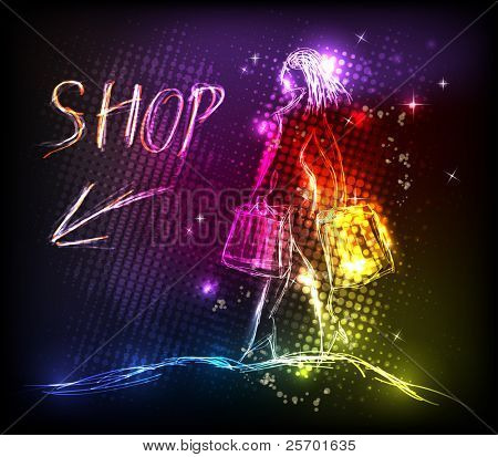 Woman shop light design