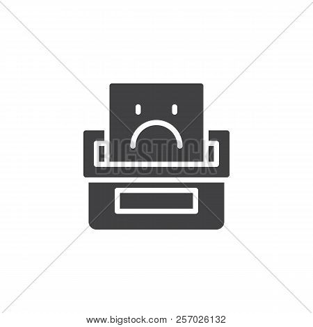 Complaint Box Vector Icon. Filled Flat Sign For Mobile Concept And Web Design. Feedbacks Simple Soli