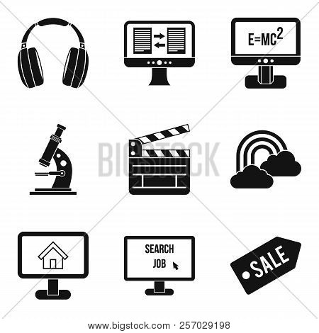 Web Resources Icons Set. Simple Set Of 9 Web Resources Icons For Web Isolated On White Background