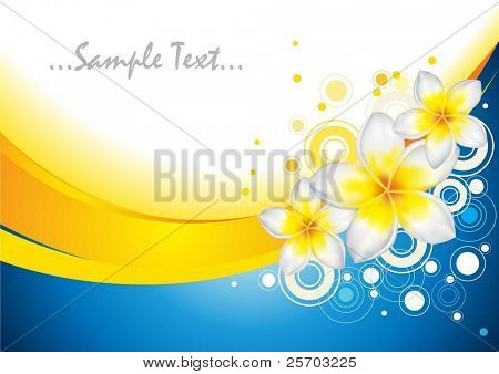 Background with Frangipani Flowers