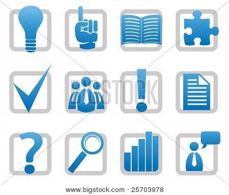 Information icons - Vector set