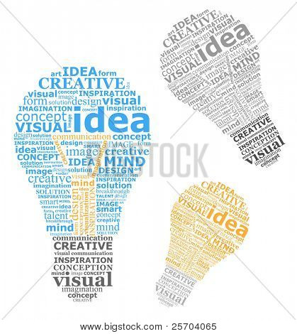 Bulbs ideas made by ??typography