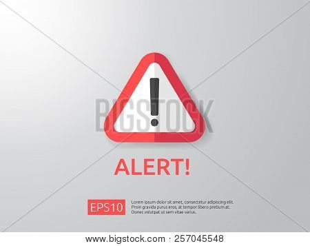 Attention Warning Alert Sign With Exclamation Mark Symbol. Shiel