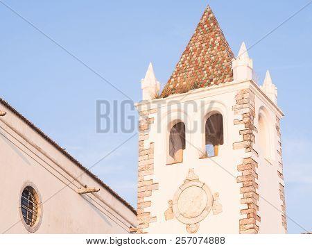 Tower Of The Nosso Senhor Dos Inocentes Church In Estremoz, Portugal.