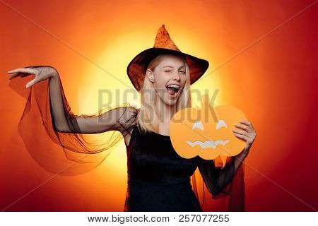 The Most Popular Candy For Halloween. Halloween Dresses And Witch Costumes And Witch Hats. Witch Hat